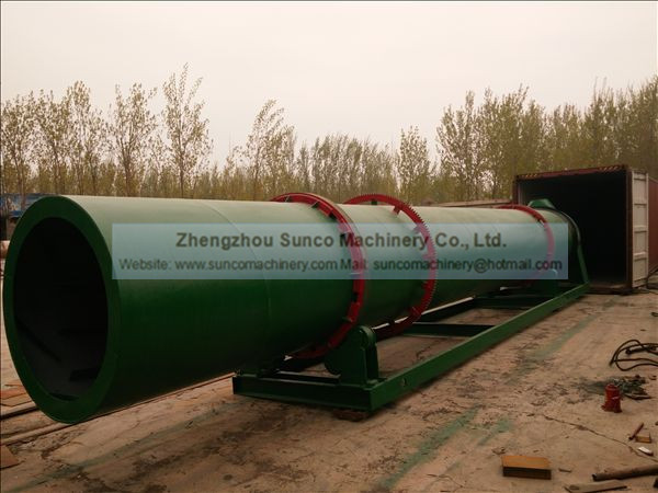 Cooling Drum for the Capacity 11 t/h Chicken Manure Drying system
