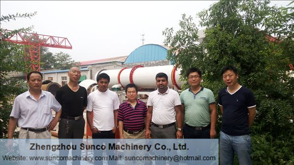 Nepal Customer Visit Sunco Machinery for Chicken Manure Dryer System