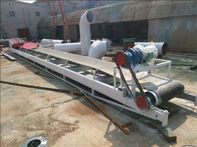 Inlet Belt conveyor for wood shavings drying machine