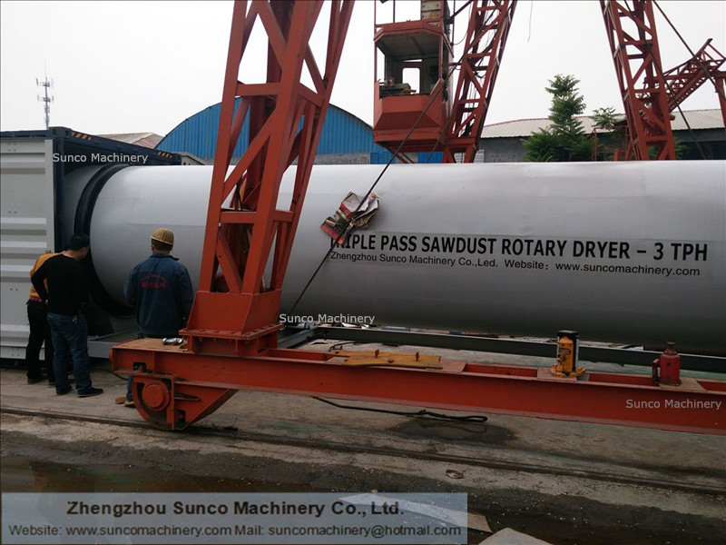 Rotating Drum Dryer for drying sawdust, Rotary drum sawdust dryer, sawdust drying machine