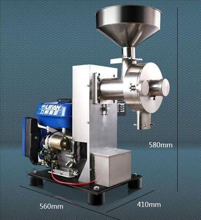 Small Grain Mill With Gasoline Engine, grain milling machine, flour mill