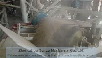 Dry sand to be taken out by belt conveyor