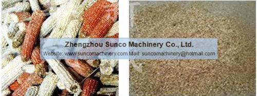 Corn Cob Crusher Machine, Corn Cob Shredder, Corn Cob Hammer Machine