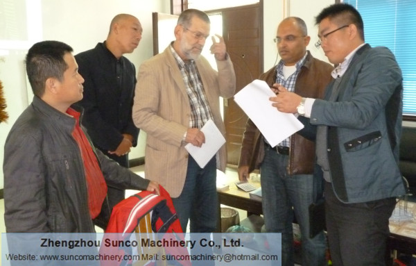 Egypt Customer for Poultry Manure Drying Machine