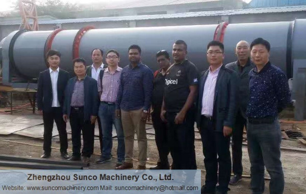 Fiji Customer for Chicken Dung Dryer Machine