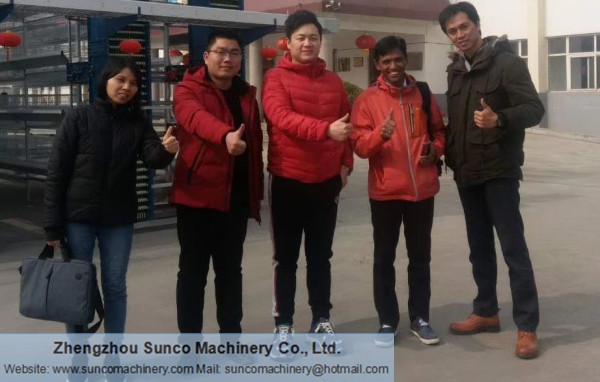 Indonesia Customer for Poultry Manure Drying Machine