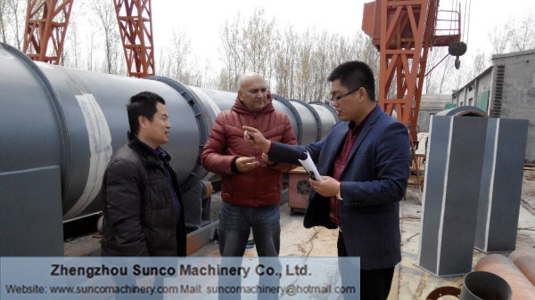 Malaysia Customer for Rotary Slag Drying System