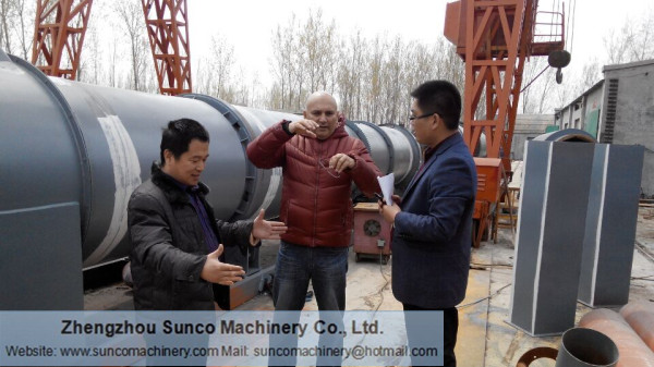 Malaysia Customer for Rotary Slag Drying Line