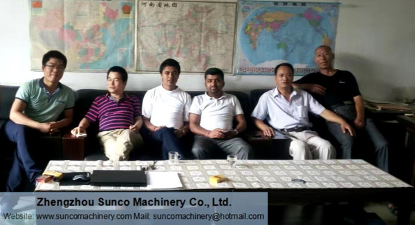 Nepal Customer for poultry manure drying machine
