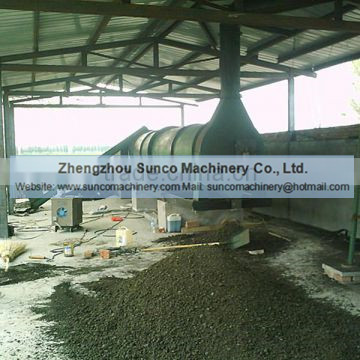 Rotating chicken litter drying machine, Chicken manure dryer, poultry manure drying machine