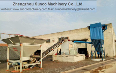 sand dryer, sand drying machine, rotary sand dryer