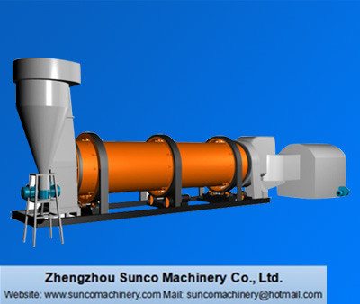 sand dryer, sand drying machine, sand rotary dryer, silica sand dryer