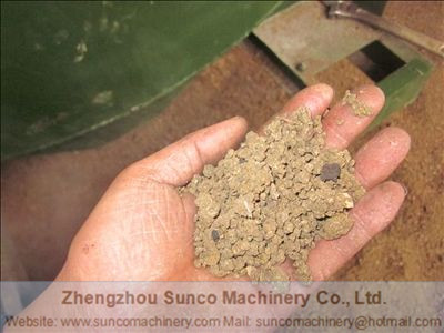 dry chicken manure after being dried by Sunco Machinery rotary drum chicken manure dryer